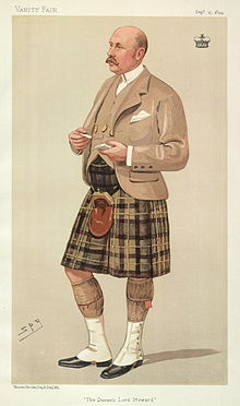 Gavin Campbell first Marquess of Breadlabane, The Queen's Lord Steward. Caricature by Spy published in Vanity Fair in 1894.