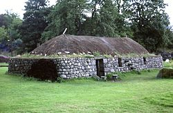 A reconstructed blackhouse at the Highland Folk Museum, Newtonmore