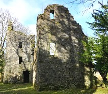 The ruins of Finlarig Castle