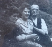 Morag with sister-in-law Jean and father-in-law John Forbes Lawrie